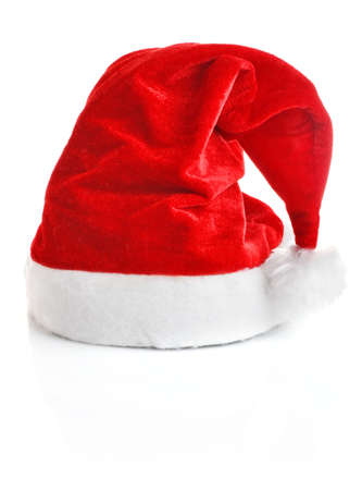 Santa Claus cap isolated on white background