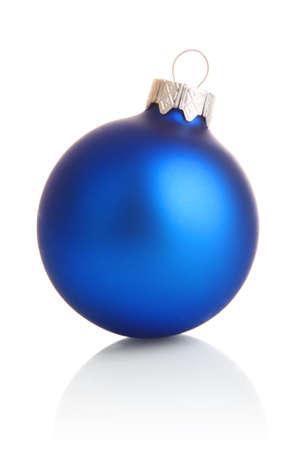 blue decoration isolated on white background Stock Photo