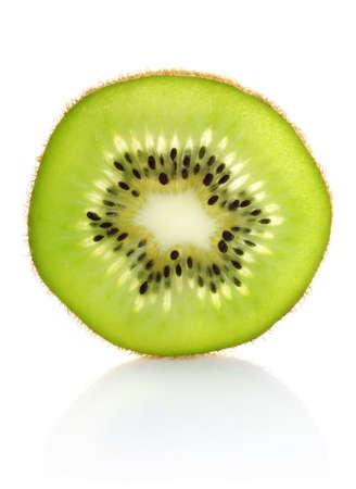 segment: juicy segment kiwi isolated on white background