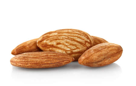 hillock: hillock of almonds isolated on white background