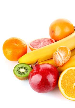 fruity still life isolated on white background Stock Photo