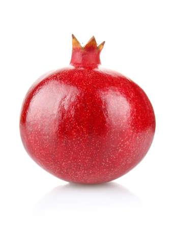 ripe pomegranate isolated on white background Stock Photo