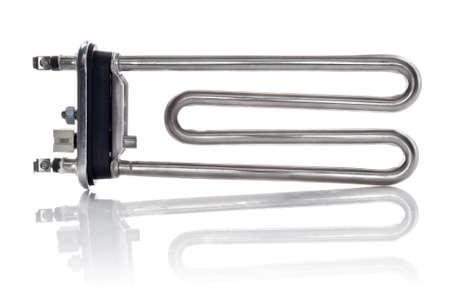 new heating element for washing machine isolated on white background