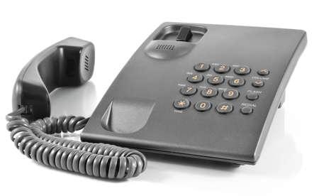 stationary phone isolated on white background