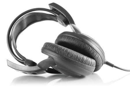 professional headphones dj isolated on white background