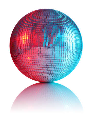 ball for disco club isolated on white background photo