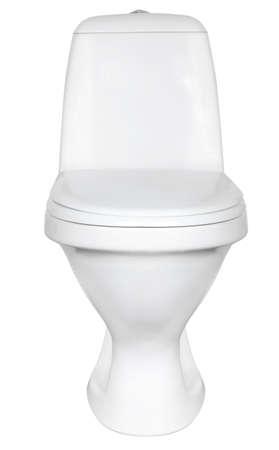 ceramic wc isolated on white background Stock Photo