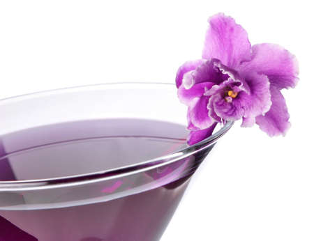 floral cocktail isolated on white background