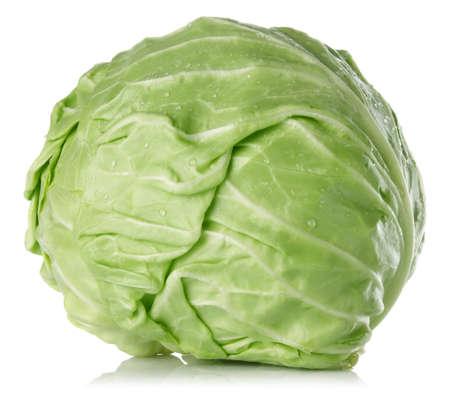 fresh juicy cabbage isolated on white background Stock Photo