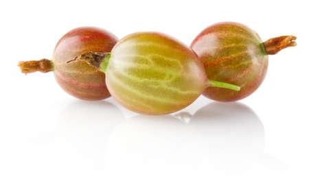 ripe juicy gooseberry isolated on white background
