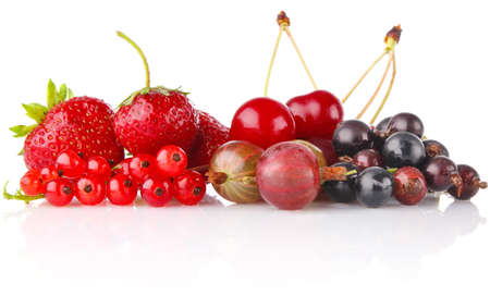 still life of berry isolated on white background