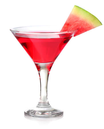watermelon cocktail isolated on white background