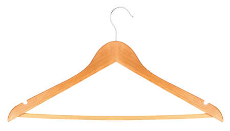 wooden hanger isolated on white background Stock Photo - 17389172
