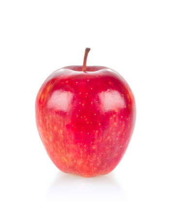 Ripe juicy apple. Isolated on white background