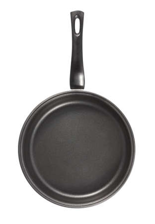 ingestion: Pan with teflon cover . Isolated on white background