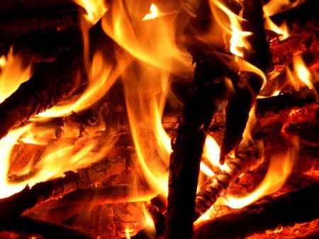 Fire Closeup Stock fotó
