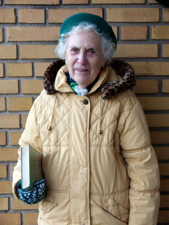 Senior Going To The Library photo