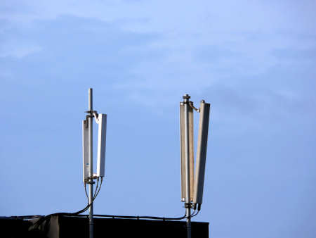 portrait of cellular phone network telecommunication antenna Reklamní fotografie