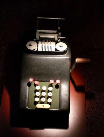portrait of old vintage calculator Reklamní fotografie