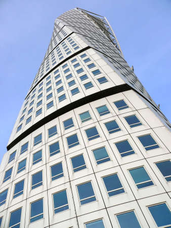 portrait of turning torso office and apartment building