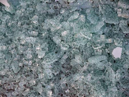 sabotage: portrait of thick broken glas background