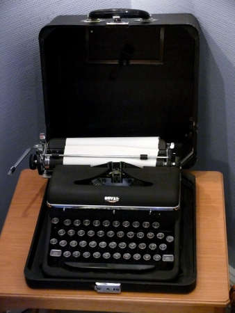 scriptwriter: portrait of an old typewriter with paper