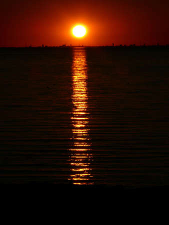 portrait of midnight sun in beautiful sea landscape Reklamní fotografie