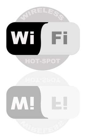 hot spot: portrait of wireless 802.11 hot spot sign