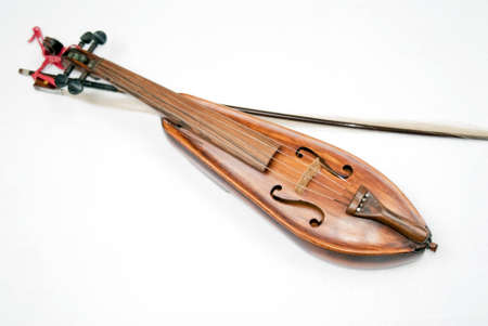 portrait of an old special violin called traskofiol in Sweden photo