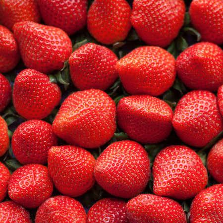 fruity salad: Fresh ripe perfect strawberry - Food Frame Background