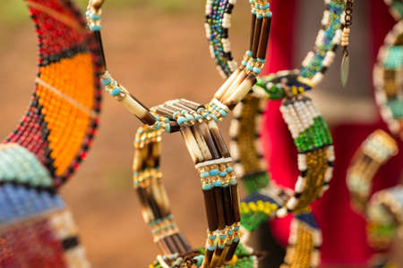 Masai handcrafted bracelets Stock Photo