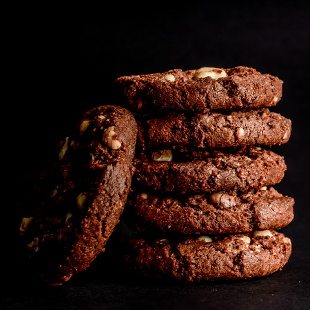 Cookies, chocolate, almonds, chestnut, biscuit, wafer, cookie