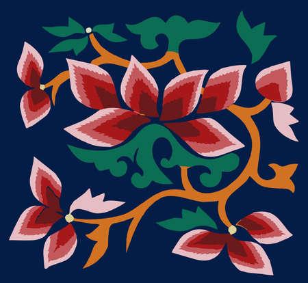 motif Oriental Flower