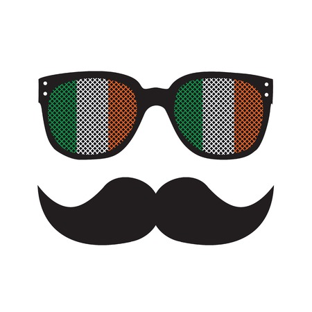Man with glasses and moustache Vector