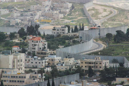 Separation Wall between the occupied palestinian territory's and Israel Stock Photo