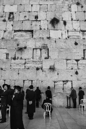 Western Wall, Jerusalem, Israel, 03.04.2015, Israel 03.04.2015: Western Wall Jerusalem is also called the wailing wall or wall of weeping. It is one of the holiest sites for jews and located at Jerusalem Temple Mount, which is also claimed by Muslims as o