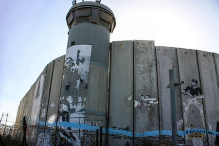 Separation Wall, Palestinian Territory, 20.06.2015 between the occupied palestinian territory's and Israel
