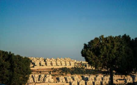 illegale israelische Siedlung in einem Viertel im Westjordanland