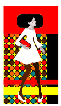 illustration of a retro pop art woman Stock Vector - 9718125