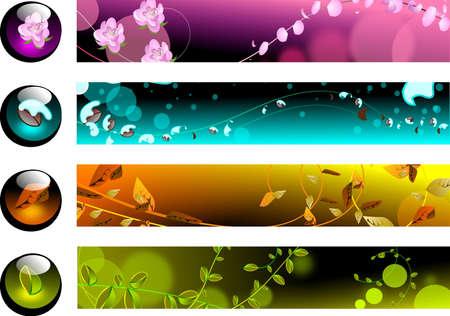 banners para p�ginas web sobre el dise�o est�tico y agradable Vectores