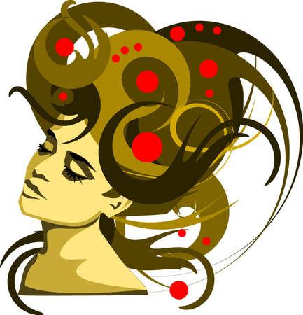 m�lancolie: Photo: illustration d'un portrait d'une belle, douce jeune fille. Illustration
