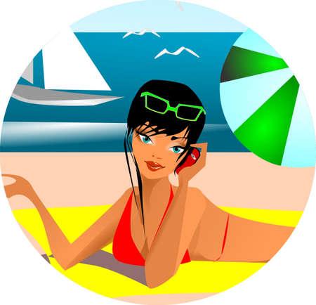 siesta: Foto d'archivio: i saluti delle vacanze