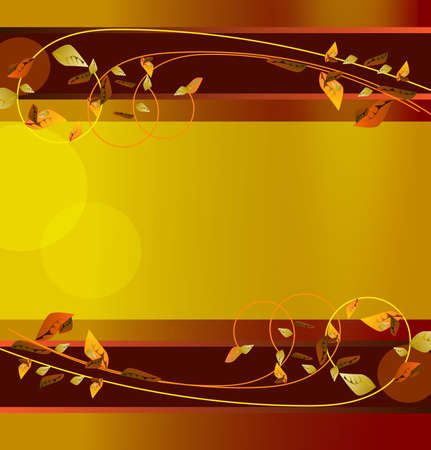 Autumn. Decorative banner or background to selected web. Stock Vector - 10184580