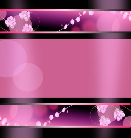 spring. Decorative banner or background to selected web. Vector