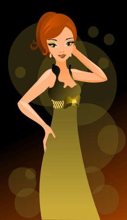 beautiful and sexy girl in a nightclub.