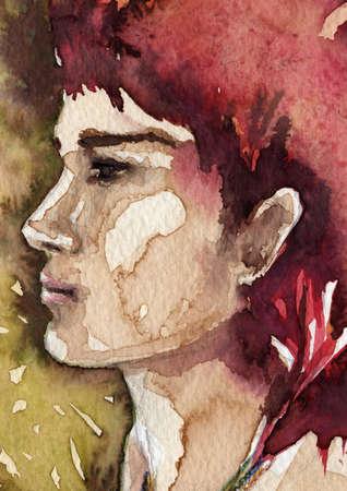 pintura en la cara: Indio
