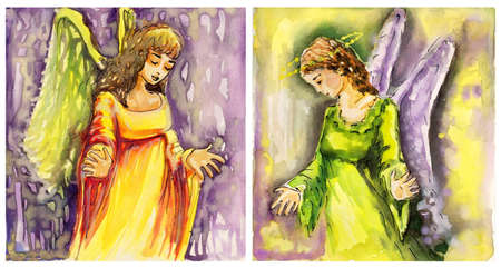 art illustration faith: two images of angels