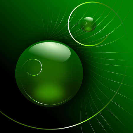Glass sphere green photo