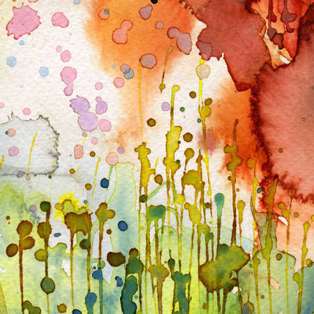 Artistic background watercolor on watercolor paper Stock Photo - 14716175
