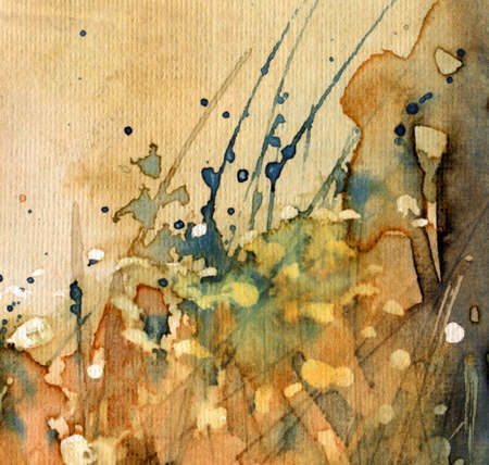 Abstract watercolor and old background photo
